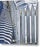 Picket Fence In Winter Metal Print