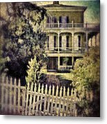 Picket Gate To Large House Metal Print