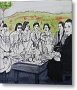 Picnic In The Mountains Metal Print