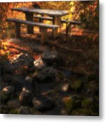 Picnic Table Metal Print by Utah Images
