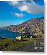 Picnic Time At Slieve League Ireland Metal Print