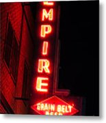 Picture Of Empire Tavern And Liquors Sign Fargo Nd Metal Print