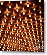 Picture Of Theater Marquee Lights Metal Print by Paul Velgos