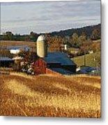 Picturesque Farm Photographed Metal Print