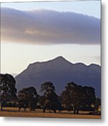 Picturesque Mountain Ranges Loom Metal Print
