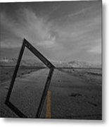 Picturing The Road Ahead Metal Print by Empty Wall