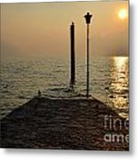 Pier And Sunset Metal Print