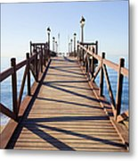 Pier On Costa Del Sol In Marbella Metal Print