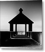 Pier Panoramic Metal Print by Pixel Perfect by Michael Moore