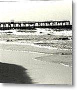 Jacksonville Beach Florida Pier 1997 Metal Print