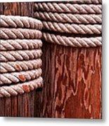 Pier Ropes Metal Print