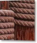 Pier Ropes II Metal Print