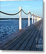 Pier To The Ocean Metal Print