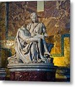 Pieta By Michelangelo Circa 1499 Ad Metal Print