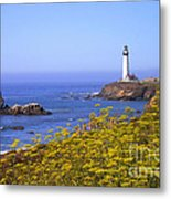 Pigeon Point Lighthouse California Coast Metal Print