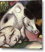 Pigs Metal Print by Franz Marc