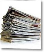 Pile Of Magazines Metal Print