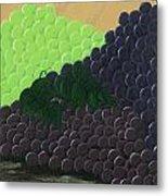 Pile Of Wine Grapes Metal Print
