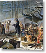Pilgrims: First Winter, 1620 Metal Print