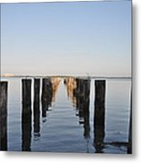 Pilings From An Old Pier Metal Print
