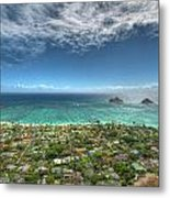 Pillbox View Of Mokulas Metal Print