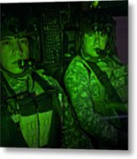 Pilots In The Cockpit Of An Oh-58d Metal Print
