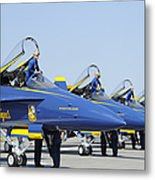 Pilots Of The Blue Angels Flight Metal Print