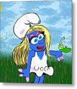 Pimp My Smurf Metal Print