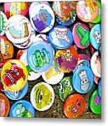 Pinback Buttons Metal Print by Jera Sky
