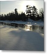 Pine Trees Casting Shadows Metal Print