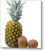 Pineapple And Kiwis Metal Print
