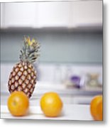 Pineapple And Oranges Metal Print