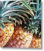 Pineapples Anyone Metal Print