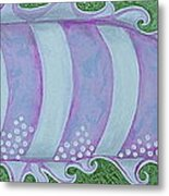 Pink And White Stylized Fantasy Fish Metal Print