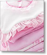 Pink Baby Clothes For Infant Girl Metal Print