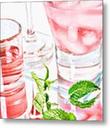 Pink Cocktails Metal Print by HD Connelly