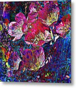 Pink Floral Abstract Metal Print