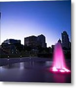 Pink Fountain Metal Print