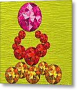 Pink Gem Crown Metal Print