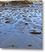 Pink Granite Island In Low Tide Metal Print