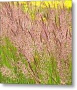 Pink Grass Metal Print