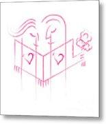 Pink Love Metal Print
