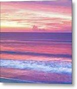 Pink Ocean Sunrise Metal Print