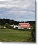 Pink Roof Farm Metal Print