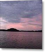 Pink Sky Lake Metal Print