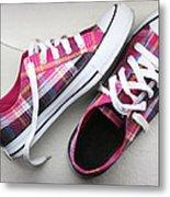 Pink Sneakers Metal Print