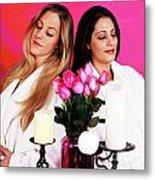 Pink Spa Sisters Metal Print
