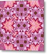 Pink Splash Mandala Abstract Metal Print