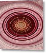 Pink Vortex Metal Print