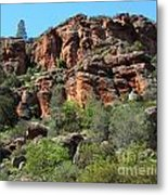 Pinnacles Rock Face Photograph Metal Print